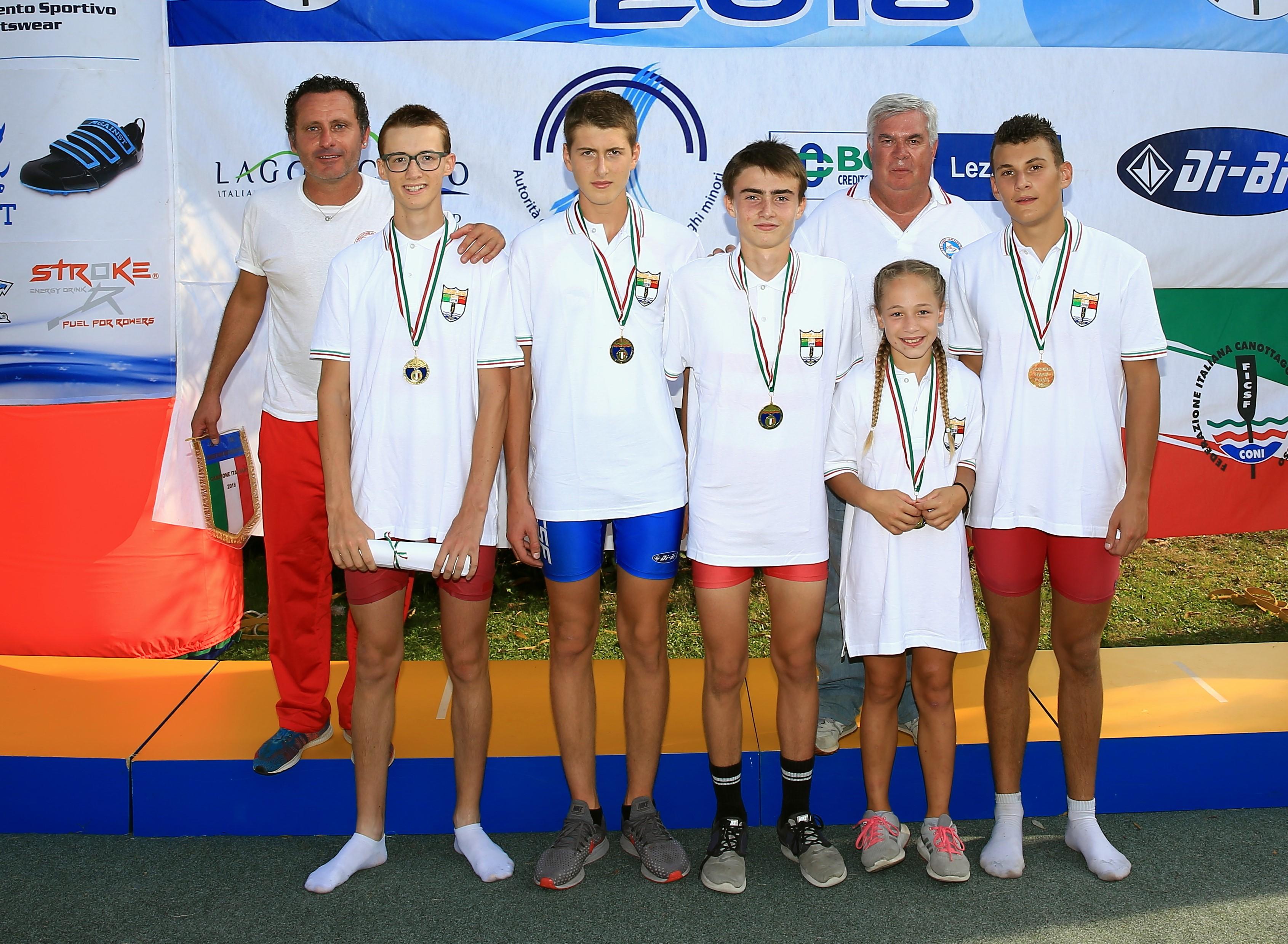Campionati nazionali di Pusiano: i successi della Canottieri Aldo Meda Cima