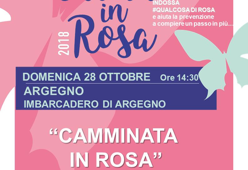 Camminata in Rosa: Domenica 28 ottobre ad Argegno