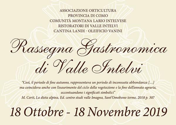 Rassegna Gastronomica di Valle Intelvi: ritorna l'evento firmato OrtiCultura