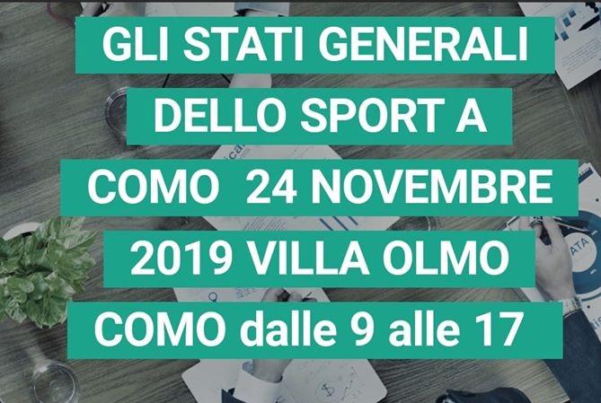 Stati Generali dello Sport Comasco: a Villa Olmo il 24 novembre