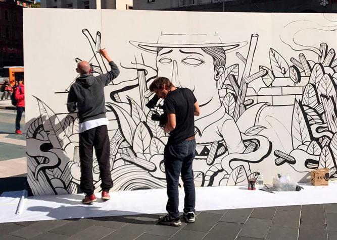 Muri Artistici Diffusi, primo appuntamento a Lavena Ponte Tresa
