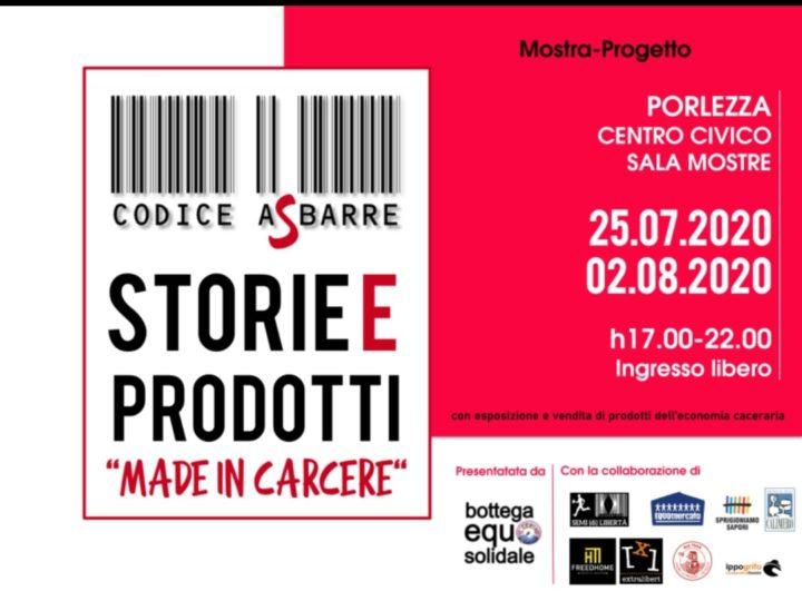 """""""Codice A Sbarre – storie e prodotti made in carcere"""" a Porlezza"""