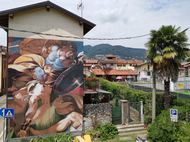 Lavena Ponte Tresa: il murales di Ravo, omaggio al Morazzone